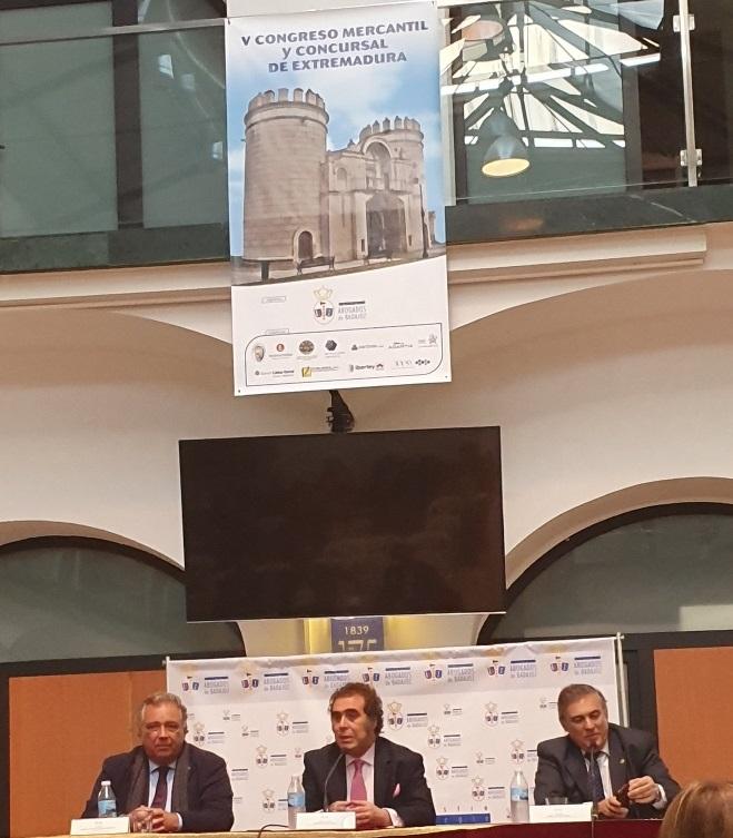 Una año más SOLVENTA ABOGADOS estuvo presente en el  V Congreso Mercantil y Concursal de Extremadura